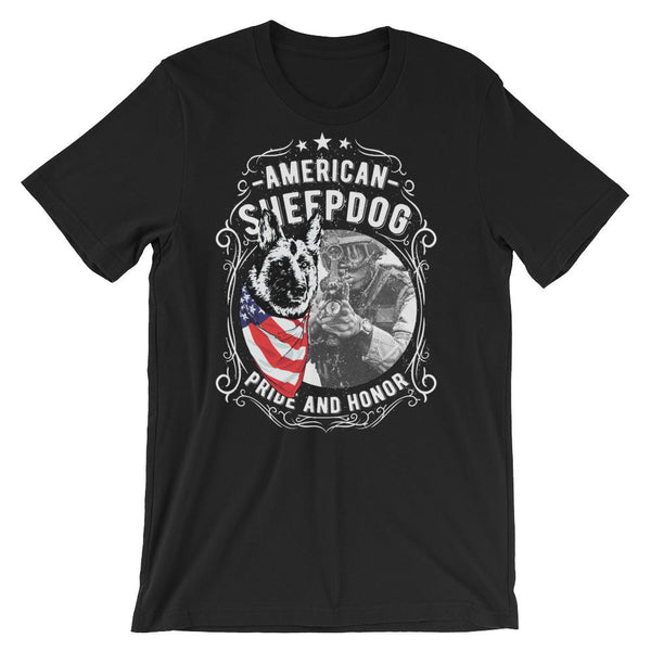 American Sheepdog Pride and Honor Short-Sleeve Unisex T-Shirt |  | Witty Novelty