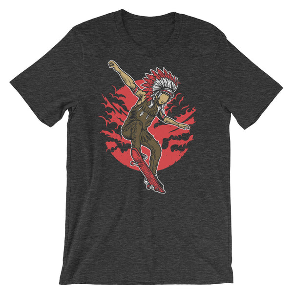 Indian Chief Skater Short-Sleeve Unisex T-Shirt |  | Witty Novelty