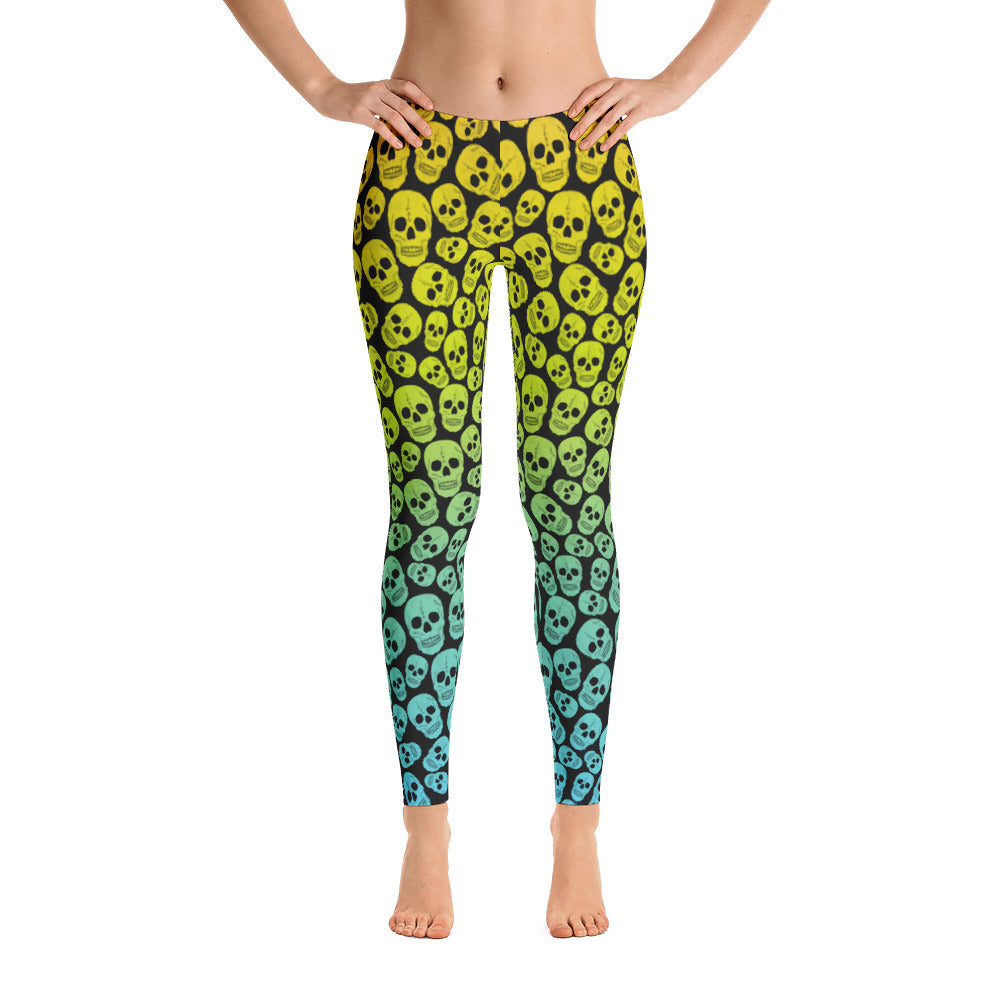 Neon Skulls Leggings | Leggings | Witty Novelty