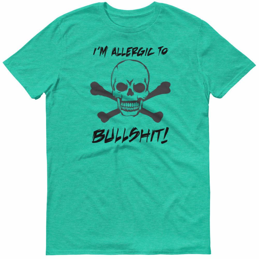 I'm Allergic To Bullshit Men's Lightweight T-Shirt | Shirts | Witty Novelty
