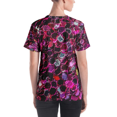 Purple Gem Stones Women's All-Over Sublimation T-shirt