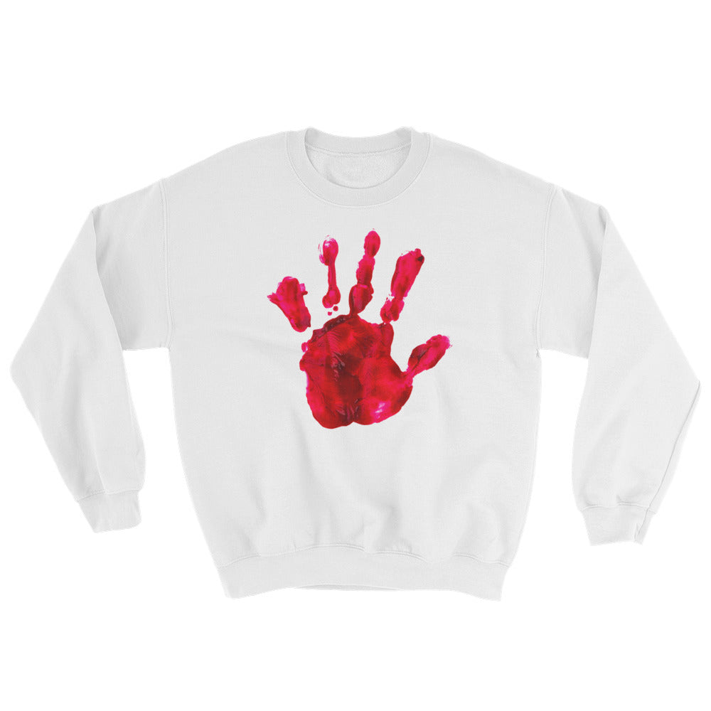 Bloody Hand Horror Sweatshirt