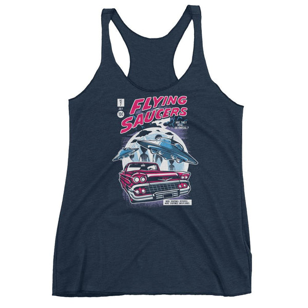 Comic Book Series: Flying Saucers Women's Tank Top |  | Witty Novelty