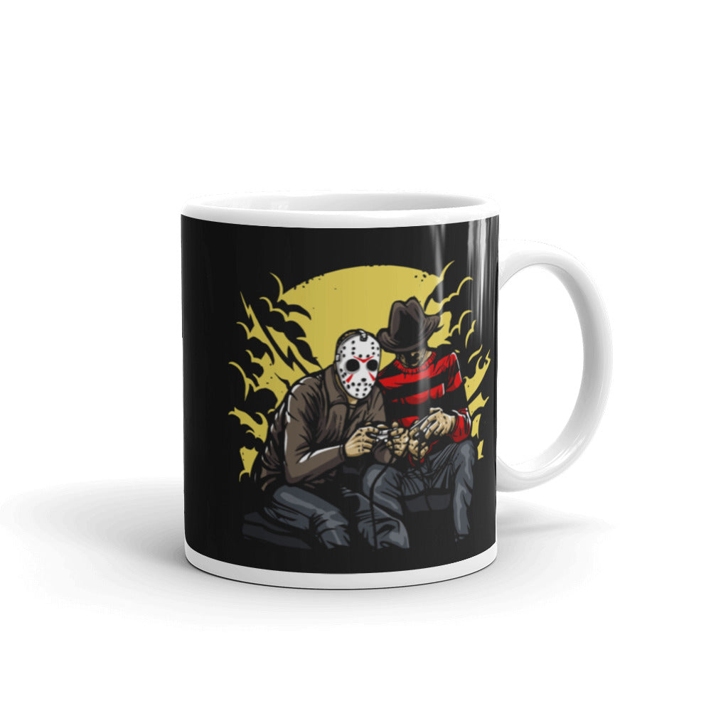 Dark Gamers Freddy vs. Jason Mug