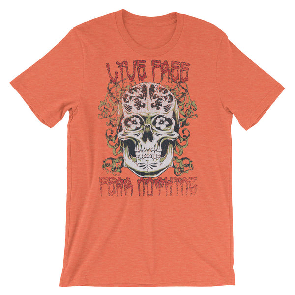 Live Free Fear Nothing Short-Sleeve Unisex T-Shirt |  | Witty Novelty