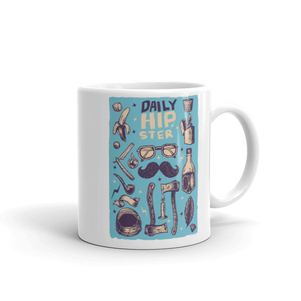 Daily Hipster Mug | Cool Gifts & Fun Mugs | Witty Novelty