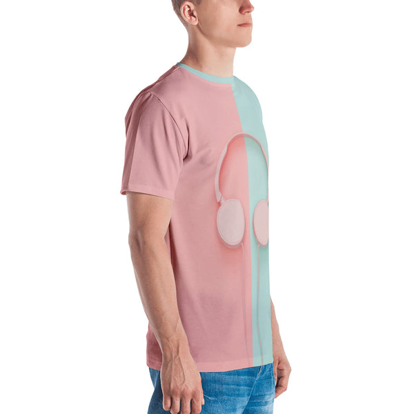 Pastel Headphones All-Over Sublimation Men's T-shirt |  | Witty Novelty
