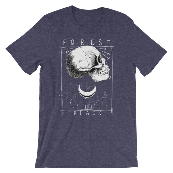 Forest Black Short-Sleeve Unisex T-Shirt |  | Witty Novelty