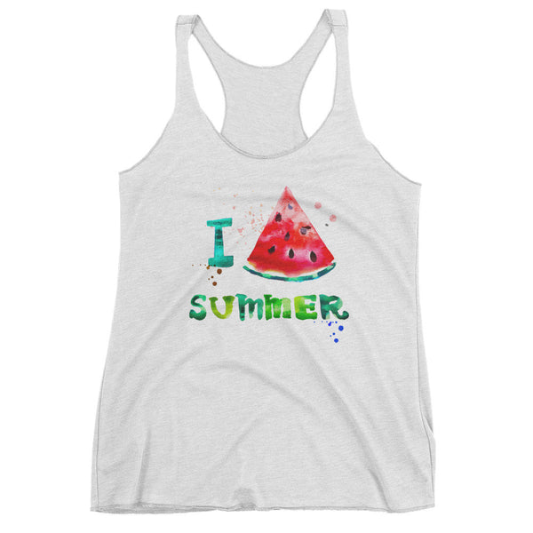 Summer Watermelon Women's Tank Top | Shirts | Witty Novelty