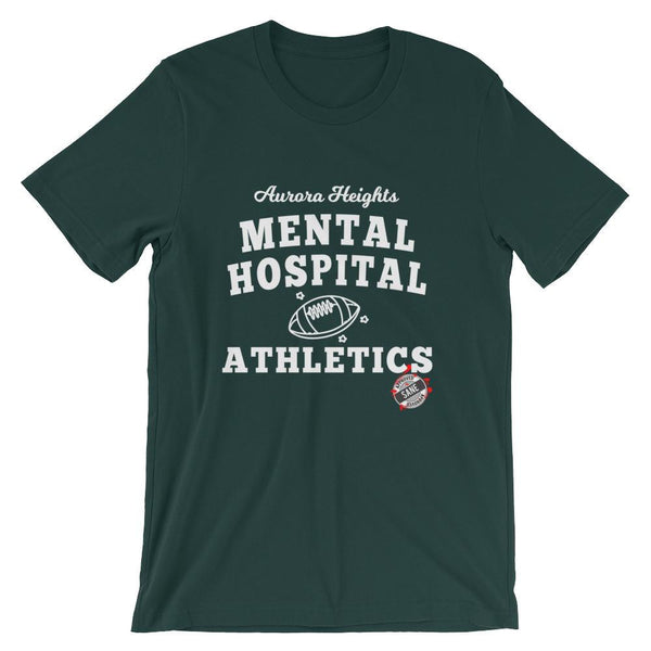 Aurora Heights Mental Hospital Athletics Unisex T-Shirt | Shirts | Witty Novelty