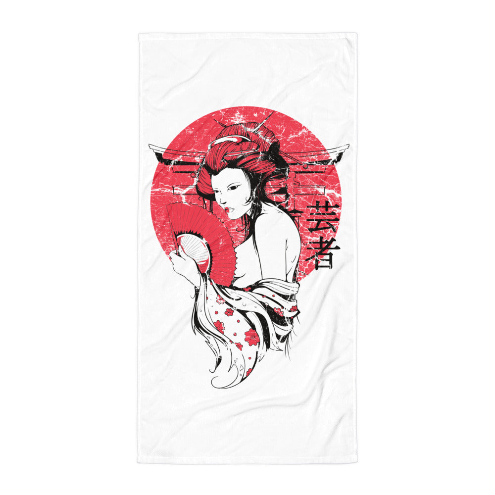 Japanese Sun Beach Towel