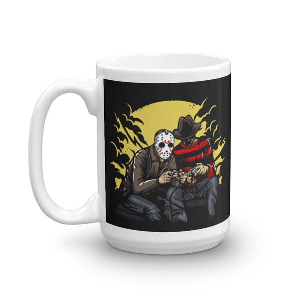Dark Gamers Freddy vs. Jason Mug | Cool Gifts & Fun Mugs | Witty Novelty