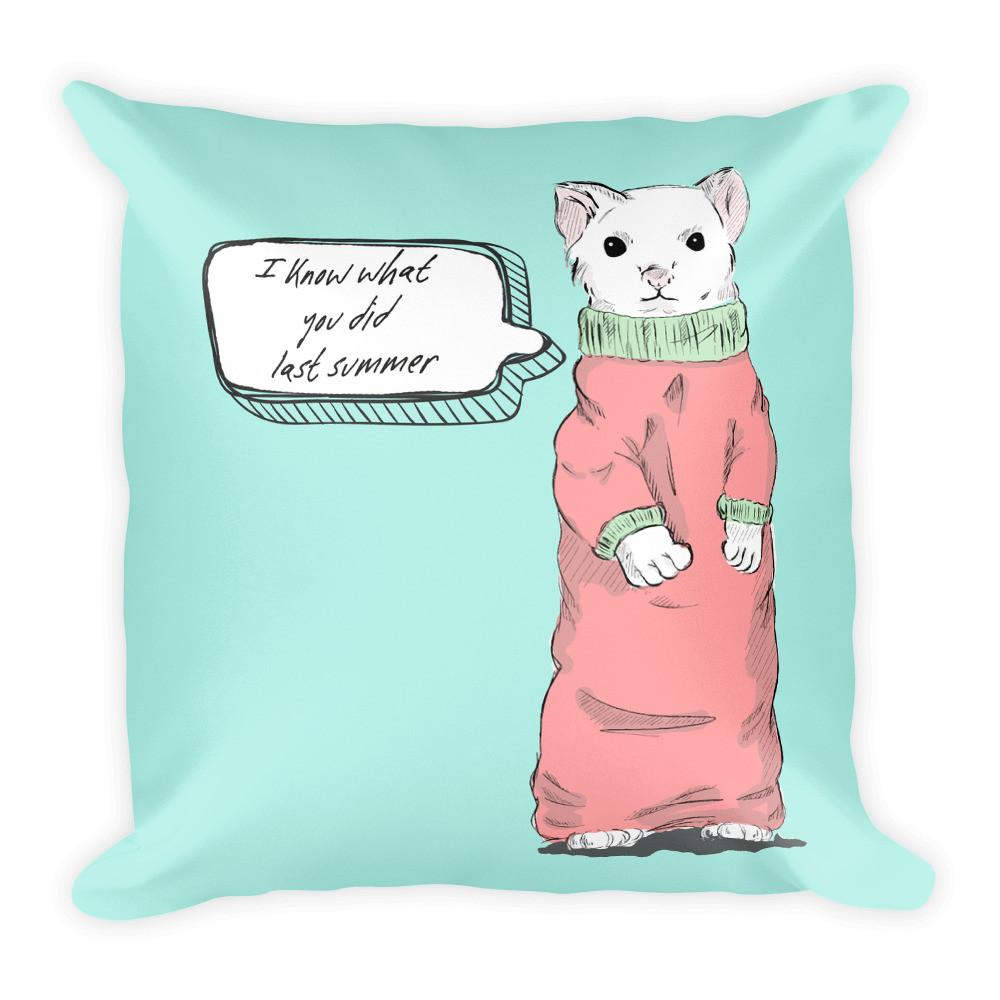 I Know What You Did Last Summer Pillow | Unique Throw Pillows | Witty Novelty