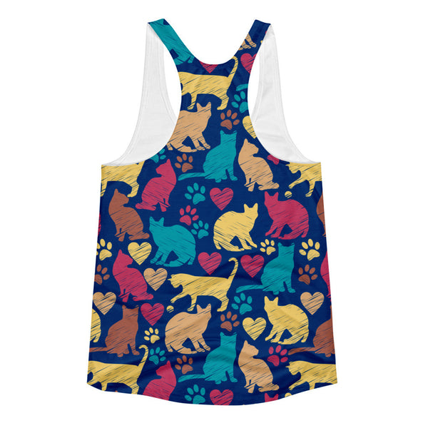 Rainbow Cats Women's Tank Top | Shirts | Witty Novelty