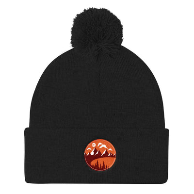 Great Mountains Pom Pom Knit Cap Beanie |  | Witty Novelty