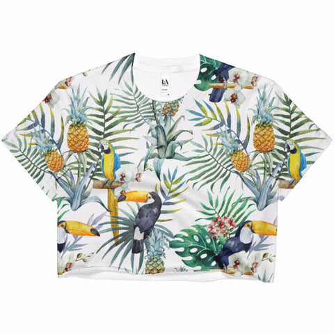 Tropical Dreams Ladies' Crop Top | Shirts | Witty Novelty