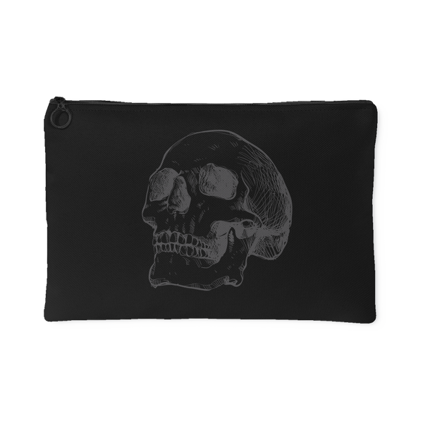 Hand Drawn X-Ray Anatomical Human Skull #1 Accessory Pouch | Accessory Pouches | Witty Novelty