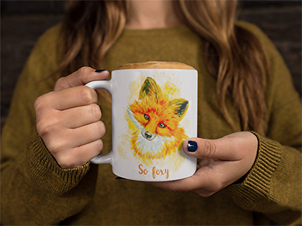 So Foxy Animal Print Mug | mugs | Witty Novelty