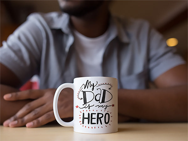 My Dad Is My Hero Father's Day Mug | Cool Gifts & Fun Mugs | Witty Novelty