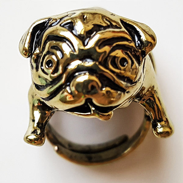 Pug-It Ring | Animal Jewelry & Cute Gifts | Witty Novelty