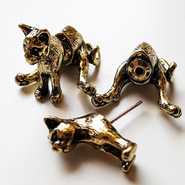 Sitting Cat Earrings | Cute Gifts & Animal Jewelry | Witty Novelty