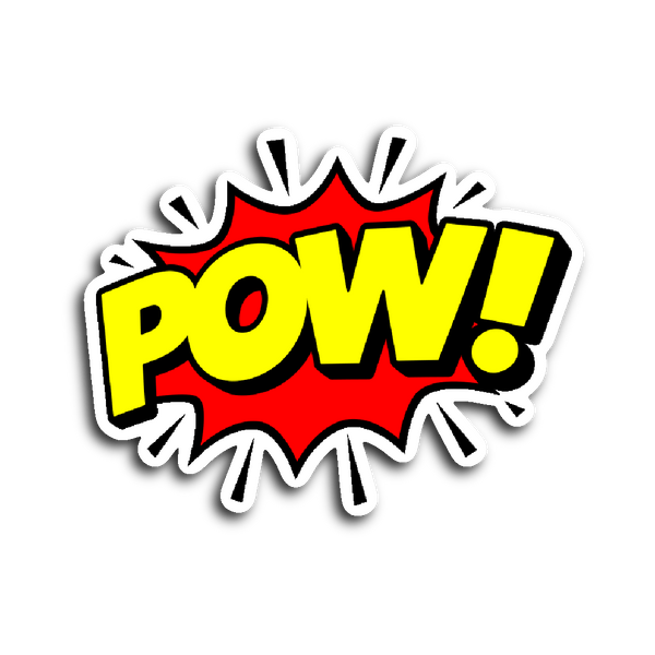 Comic Book Speech Balloon Stickers - Pow! | Stickers | Witty Novelty