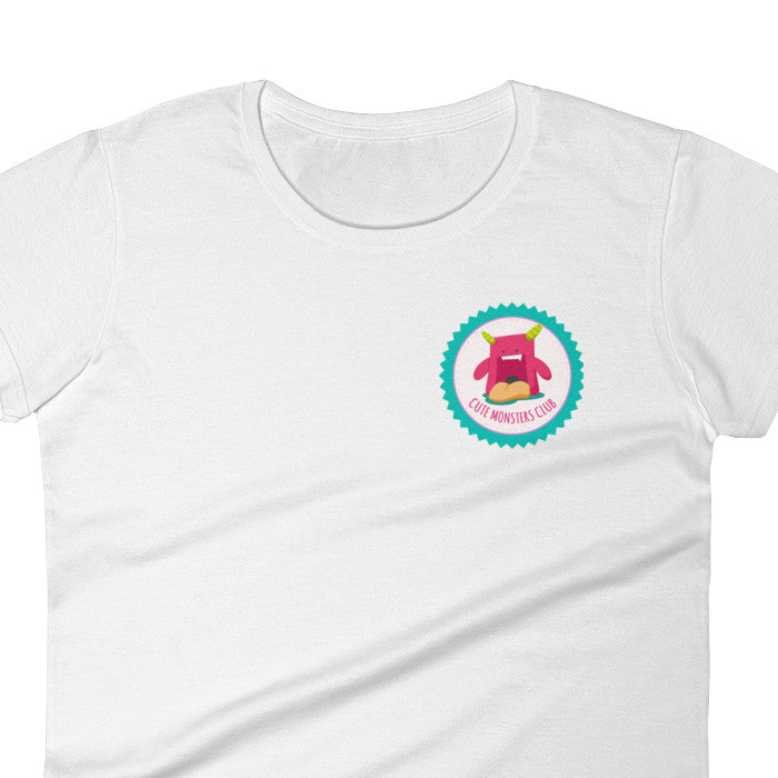 Witty Novelty Cute Monsters Club Women's T-Shirt