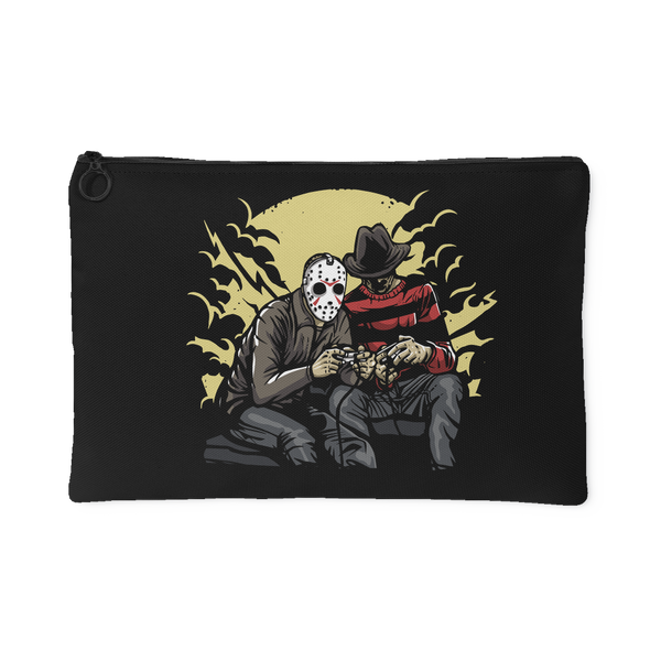 Dark Gamers Freddy vs Jason Accessory Pouch | Accessory Pouches | Witty Novelty