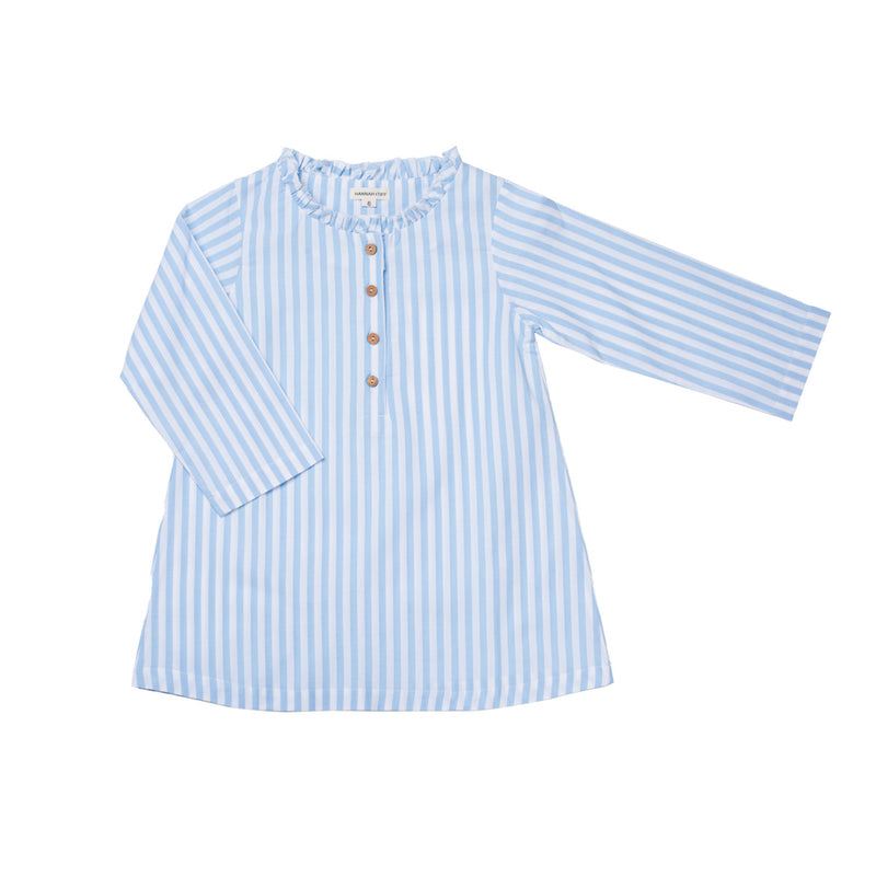 Organic Cotton Blouse| Blue