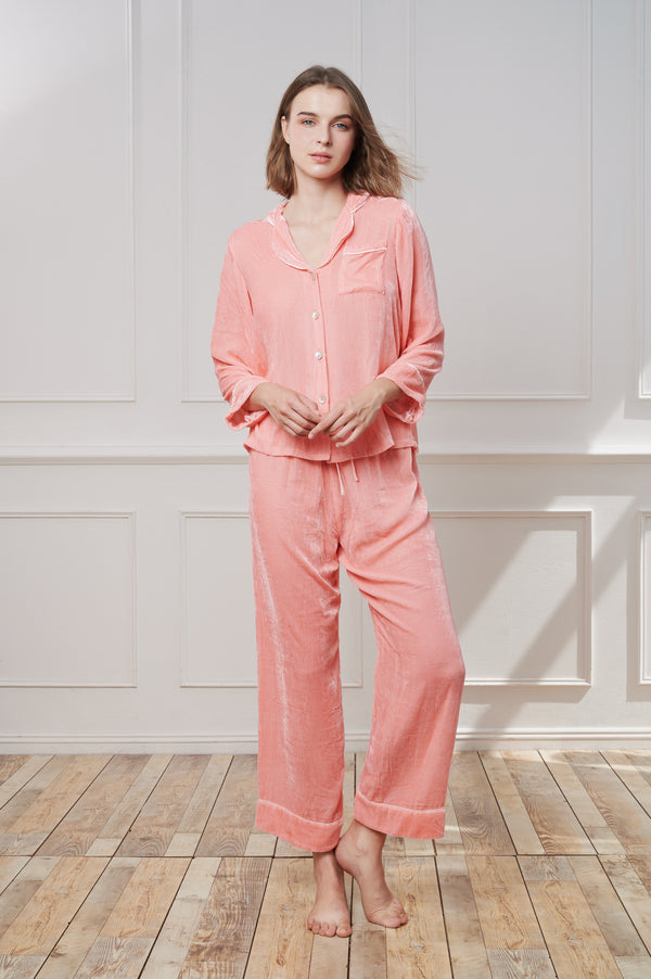 TheAnnamhouse, Homewear, Pyjamas, Luxury, Robe, Nightwear, Velvet, Silk