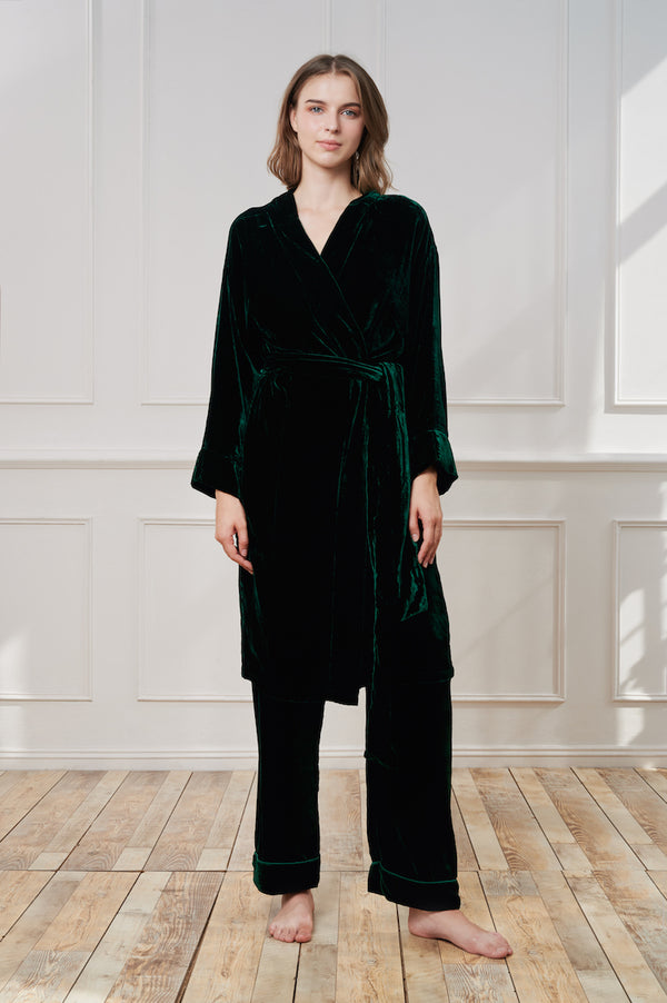 theannamhouse, homewear, pyjama, pajama, luxury, robe, nightwear, velvet, silk