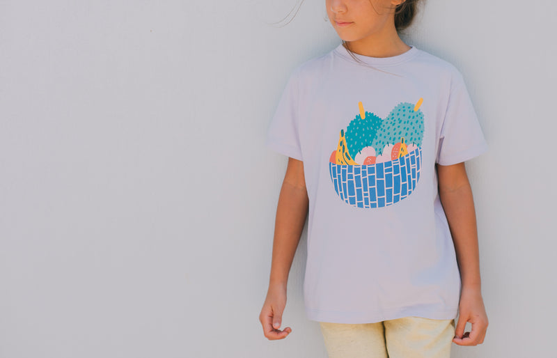 Organic Cotton T shirt Fruit Basket