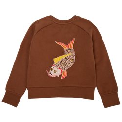 Fish Embroidery Sweater