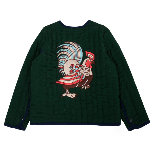 Hand Quilted Jacket - Chicken embroidery