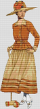 1900 - 1920 2-Piece Jacketed Dress of Pongee - Pattern and Print