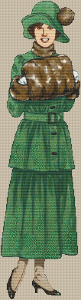 1900 - 1920 Green Suit Dress