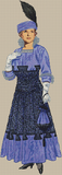 1900 - 1920 Silk Afternoon Gown - Pattern and Print