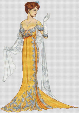 1908 Paquin Evening Gown - Pattern and Print