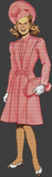 1940s Matching Dress and Coat - Pattern and Print