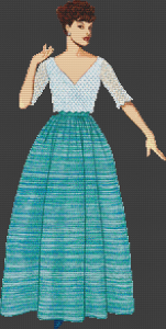 1952 Sybil Connolly Pullover Blouse and Skirt - Pattern and Print