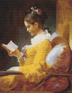 A Young Girl Reading - Pattern and Print