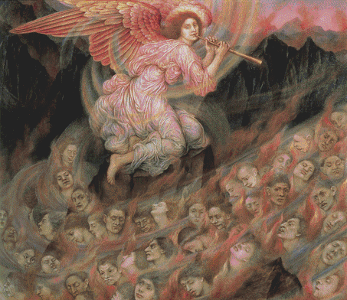 An Angel Piping To The Souls In Hell