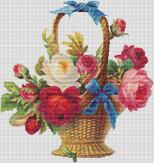 Basket of Roses - Pattern and Print