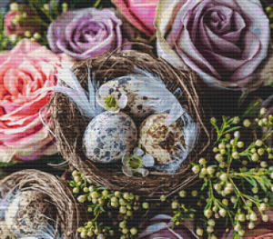 Bird Nest and Roses - Pattern and Print