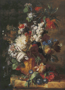 Bouquet Of Flowers In An Urn - Pattern and Print