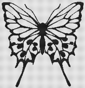 Butterfly Silhouette 1 - Pattern and Print