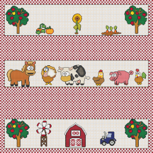 Cartoon Farm Sampler - Pattern and Print