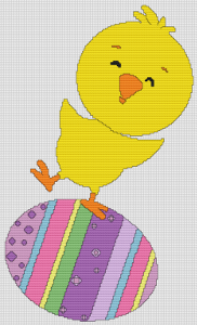 Chick And Easter Egg - Pattern and Print