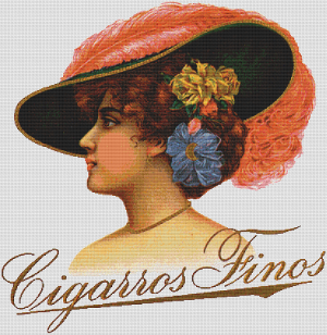 Cigarros Finos Label - Pattern and Print