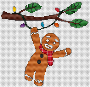 Hanging On For Christmas - Gingerbread Man